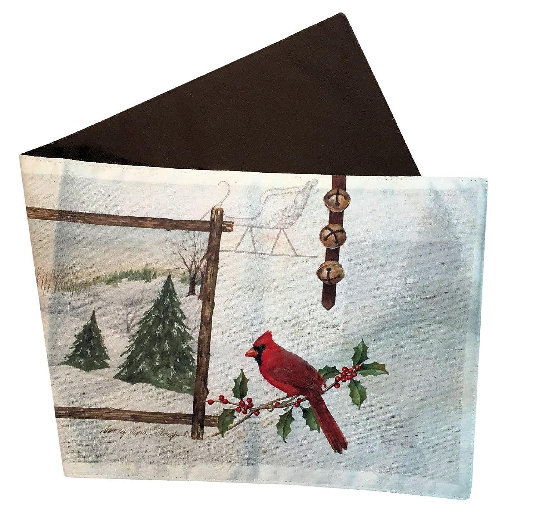 "Manual Jingle All the Way Christmas Wild Life By Sandy Lyman Clough Tablerunner SJAW36 13x36"" Multi"
