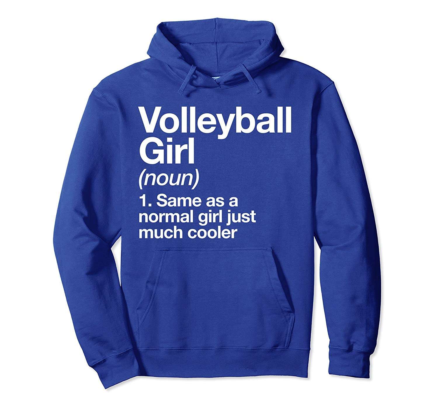 Volleyball Girl Definition Hoodie Funny Sports Pullover-ln
