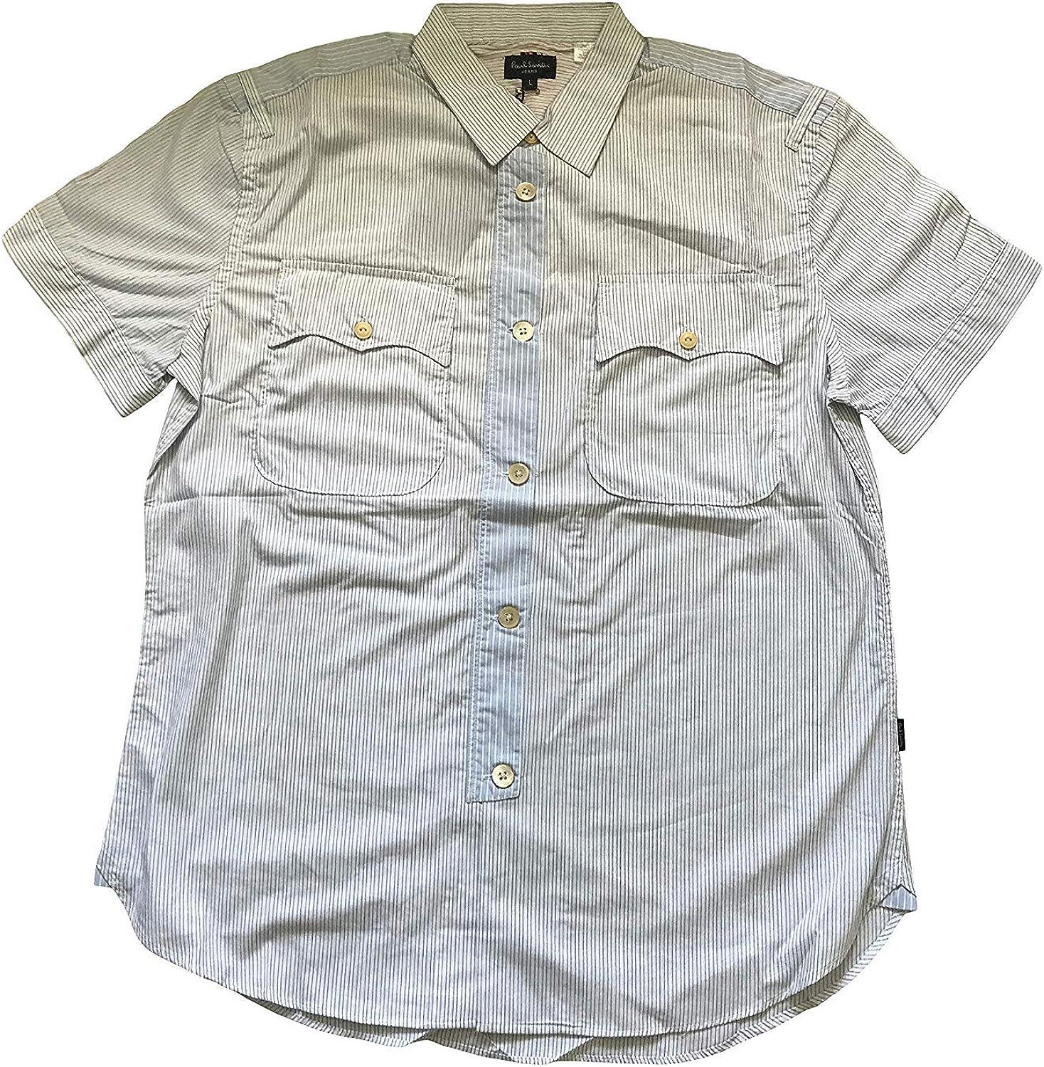 Paul Smith Manga Corta Camisa de Rayas: Amazon.es: Ropa y accesorios