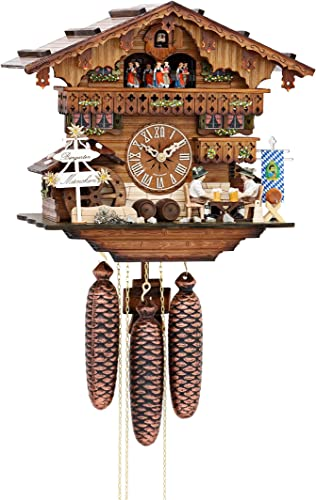 German Cuckoo Clock 8-day-movement Chalet-Style 13.00 inch – Authentic black forest cuckoo clock by Hekas