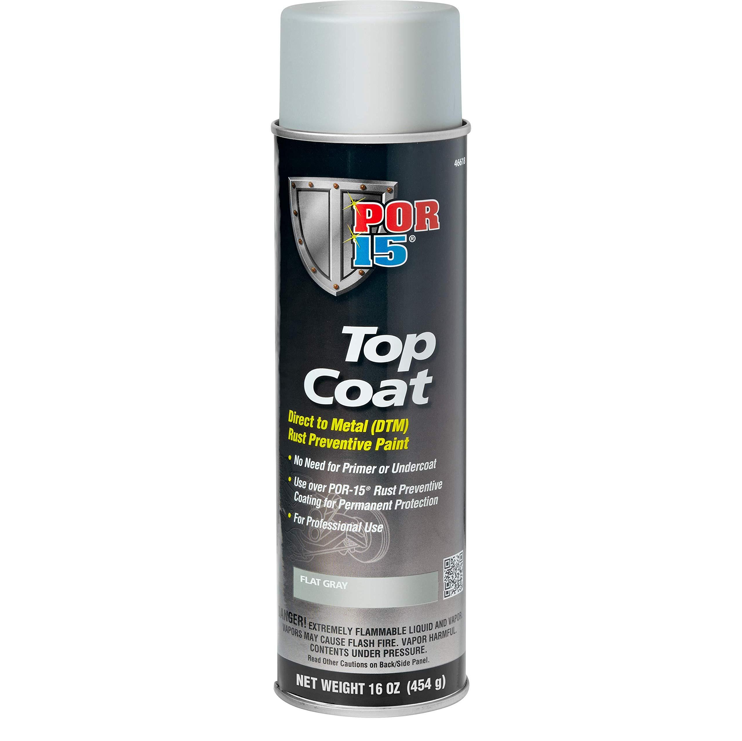 POR-15 46618 Top Coat Flat Gray Spray Paint 16. Fluid_Ounces