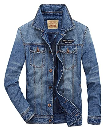 Fashion Homme Roseunion Classic Jacket Longue Manche Denim Blouson 4gXxqC