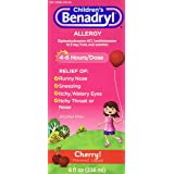 Benadryl Child Cherry Allergy Syrup, 8 Fluid Ounce