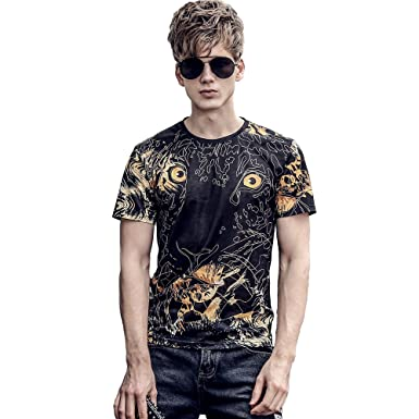 27fc09e9f1eaad FANZHUAN Stylische T-Shirts Herren Slim Fit Moderne Coole  Amazon.de   Bekleidung