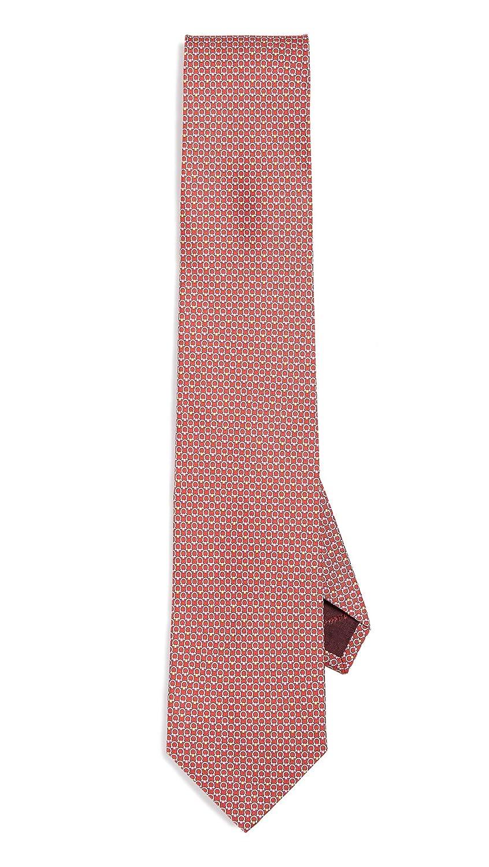 Salvatore Ferragamo Men's Energia Gancino Pattern Tie Rosso One Size Salvatore Ferragamo-Men' s