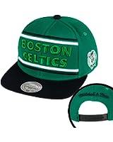 Mitchell ness boston celtics & winner snapback casquette pour homme vert/noir