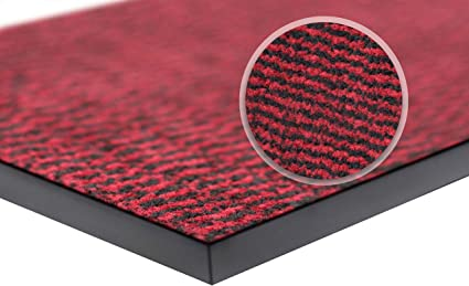 wellmax Barrier Mats - Heavy Duty, Non Slip Backing - 4 Colours- Indoor/Outdoor (Red-Black, 120 x 180 cm): Amazon.co.uk: Kitchen & Home