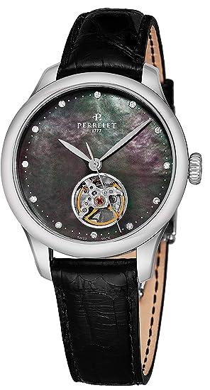 Perrelet Reloj de Mujer automático 35mm Correa de Cuero de caimán A2067-4