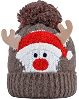 Fascigirl Boys Girls Christmas Baby Winter Warm Knit Hat for Kid Infant Toddler Santa Knit Cap