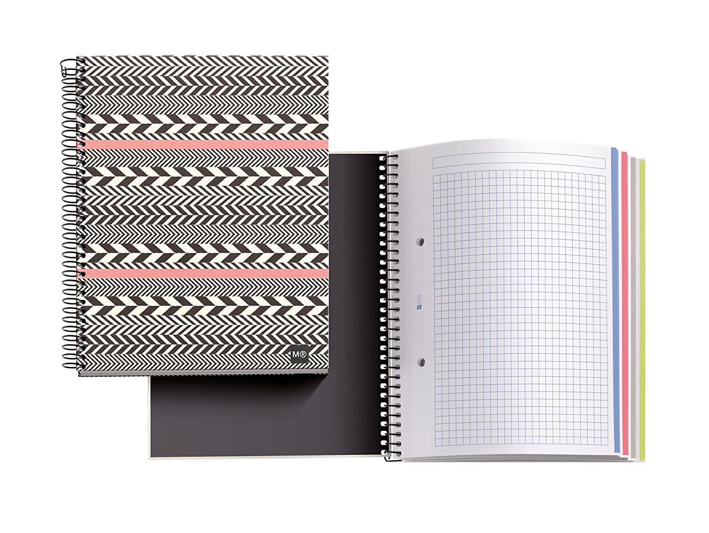 Miquelrius 46609 –  Notebook 4 cartone Espiga M, DIN A5, 148 x 210 mm, 140 fogli, 70 g/m² , a quadretti 148x 210mm 140fogli 70g/m² MIQUEL-RIUS
