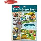 Melissa & Doug Transfer Sticker Scenes Set - Around The Town Toy