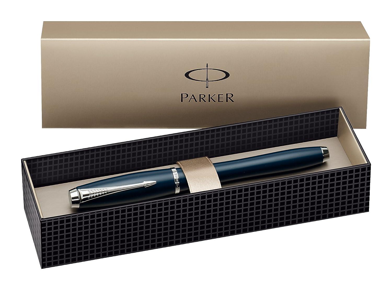 Parker Urban Premium Stylo Roller Pointe Fine Attributs Chrom/és Perle M/étal Cisel/é