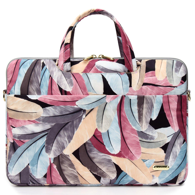 5fcd20864cf aestee lona Feather, hombro 13-13.3 portátil bolsa de mensajero manga funda  de transporte bolso manga portafolios, Colorful Feather, 13-13.3 inch  Colorful ...