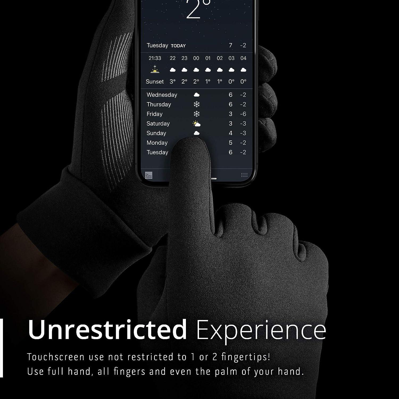 Mujjo Guanti Touchscreen per l/'Inverno con 3M Thinsulate Guanti Touch Screen per Uomo Guanti per Scrivere SMS Antivento a Isolamento Termico Donna