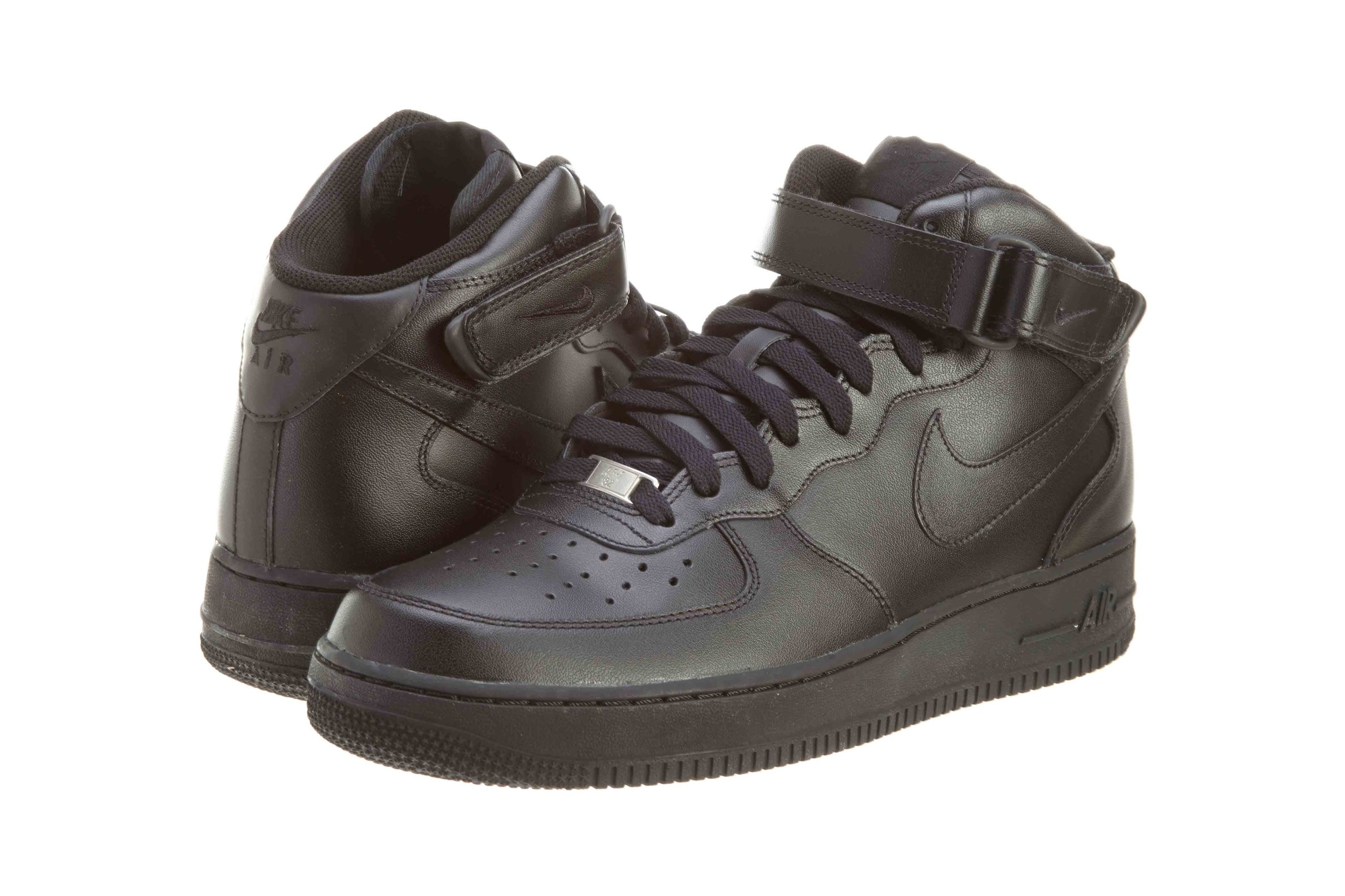 NIKE Mens Air Force 1 Mid 07 Basketball Shoes Black/Black 315123-001 Size 12