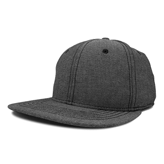 Amazon.com  DALIX Premium Flat Bill Snapback Chambray Hat 6 Panel ... a66ca585f3d8