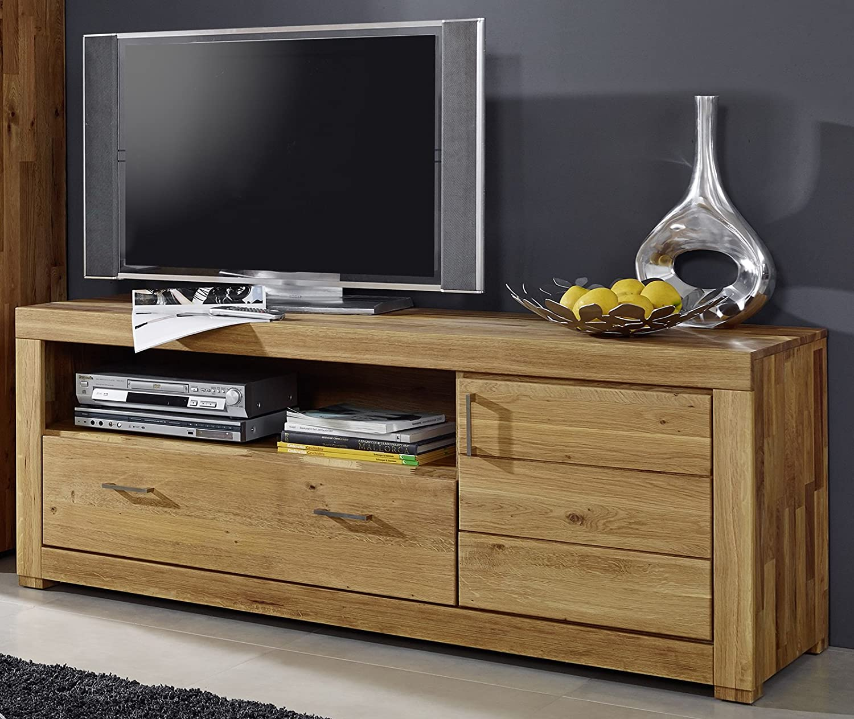 SAM® Lowboard Ancona III TV-Schrank Wildeiche massiv 165 cm breit ...