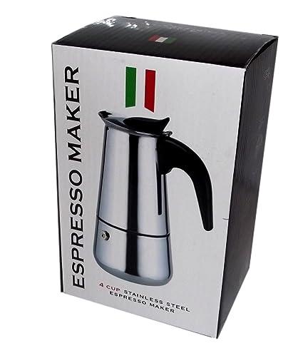 Espresso Maker - Cafetera italiana de acero inoxidable, capacidad ...