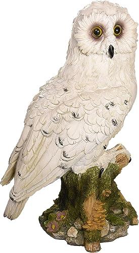 Design Toscano QM12509 Mystical White Owl Statue,Full Color