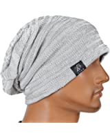 Stylish Unisex Slouchy Crease Knit Beanie Long Hat