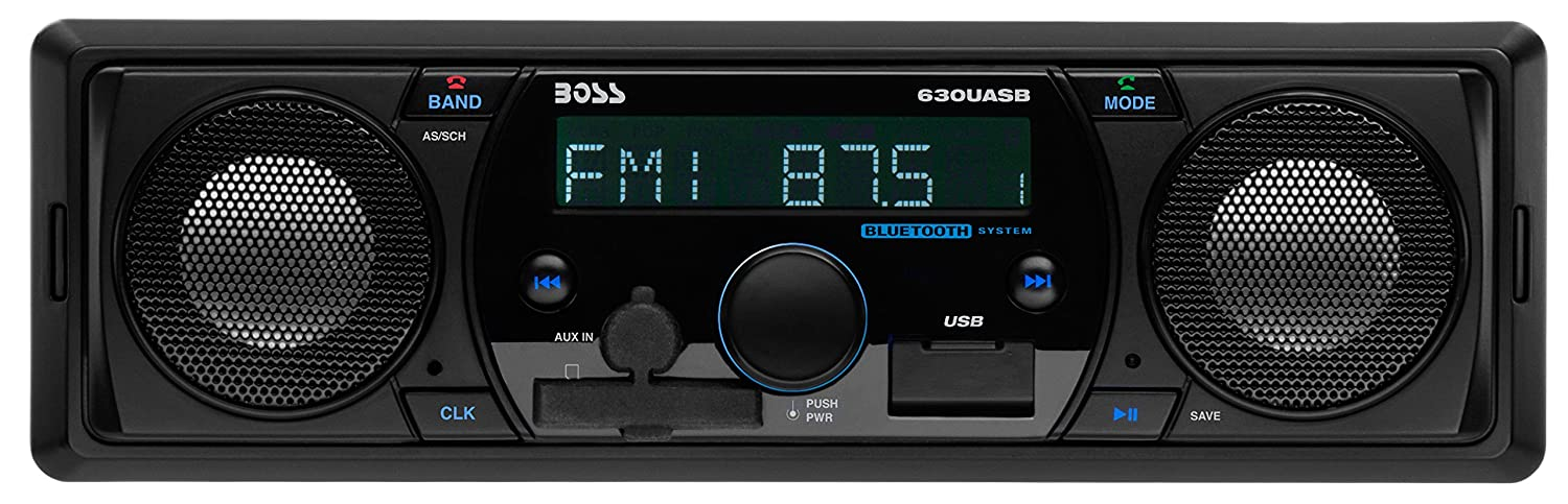 BOSS AUDIO 630UASB Single-DIN MECH-Less Receiver Wireless Remote Bluetooth