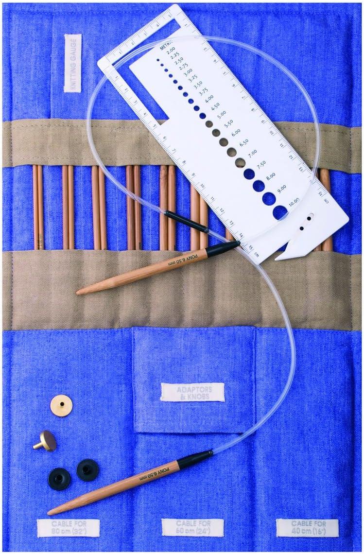 Pony-aluminium crochet hooks-length 15 cm taille de 0,6 mm à 6,5 mm