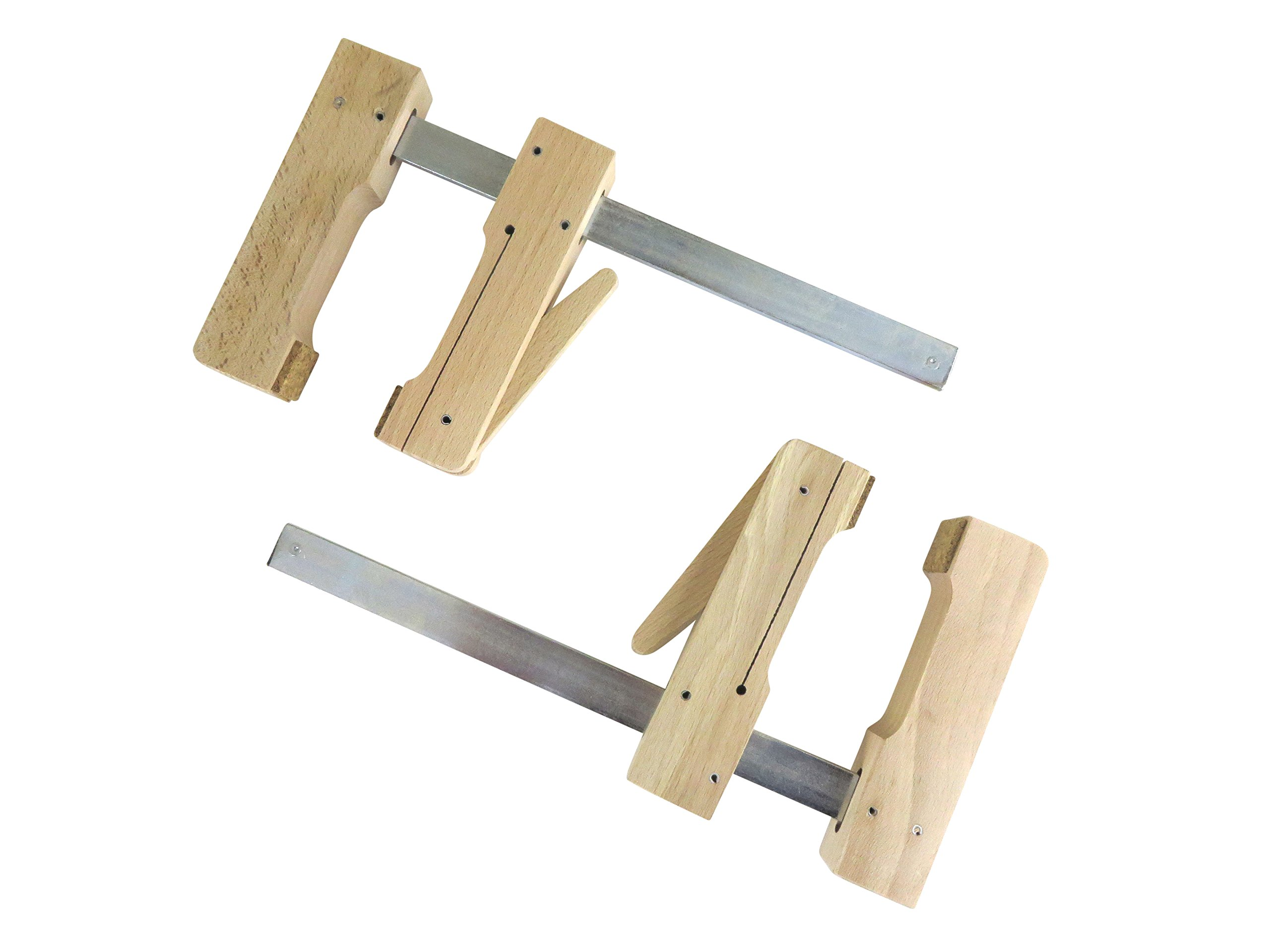"2 each Pair Taytools 30-200 Wooden Wood Cam Action Clamps 7-1/2"" Opening by 4-1/4"" Depth European Beech"