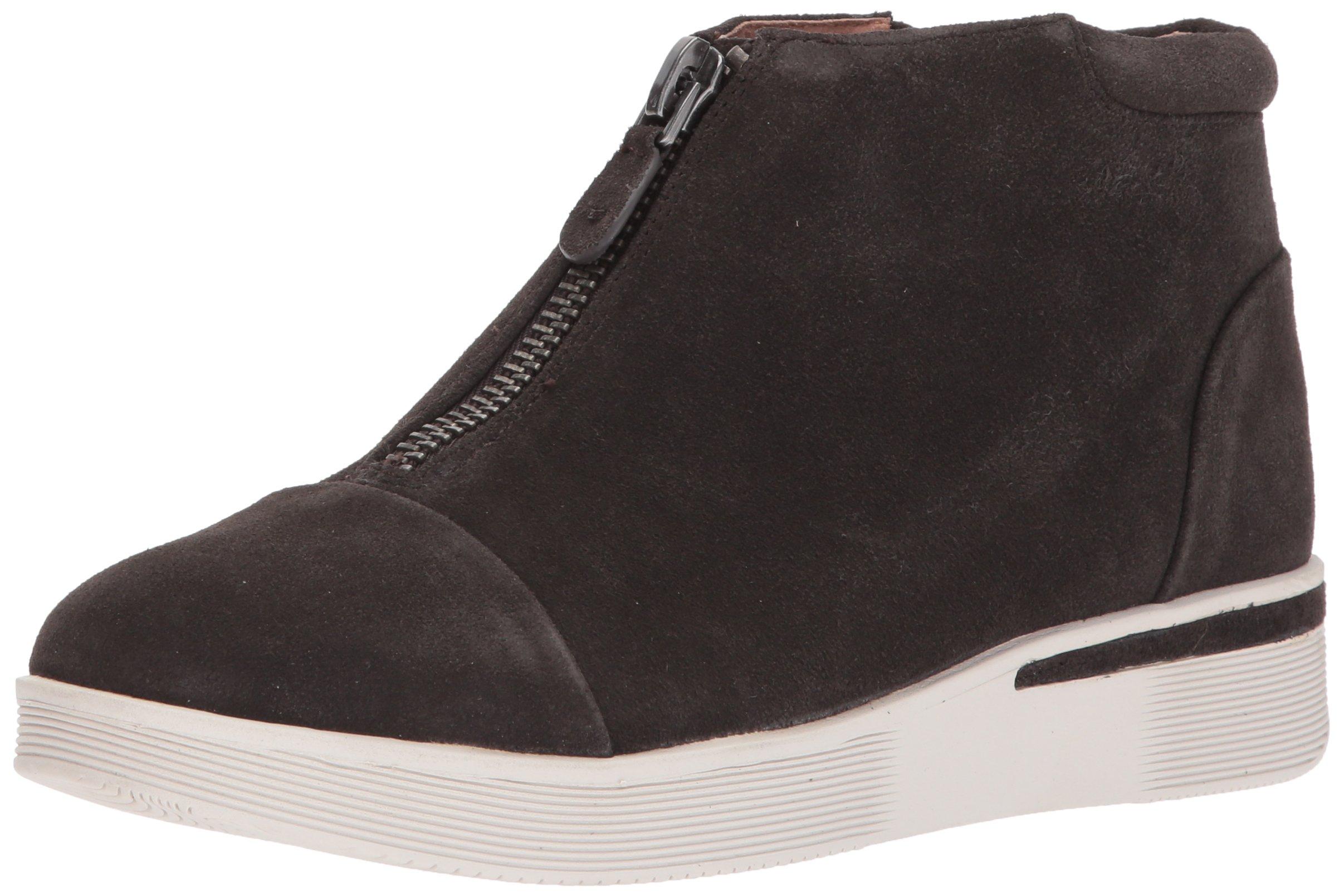 Gentle Souls Women's Hazel-Fay Platform Midtop Front Zip Sneaker, Asphault, 8.5 Medium US