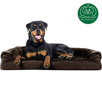 Groovy Furhaven Pet Dog Bed Orthopedic Plush Faux Fur Suede Sofa Style Traditional Living Room Couch Pet Bed W Removable Cover For Dogs Cats Ibusinesslaw Wood Chair Design Ideas Ibusinesslaworg