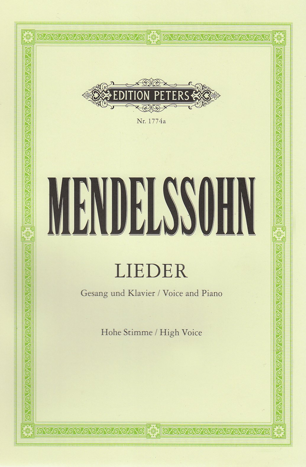 Lieder: Hohe Singstimme / Klavierauszug