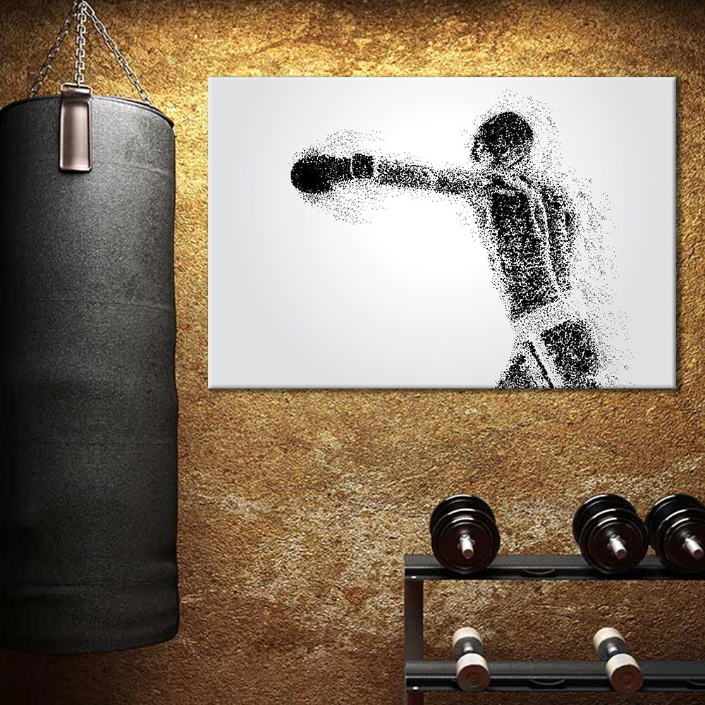 Boxer Exercise Wall Arts