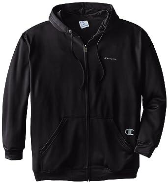 a254214e094f Amazon.com  Champion Men s Tall Poly Fleece Full Zip Hood  Clothing