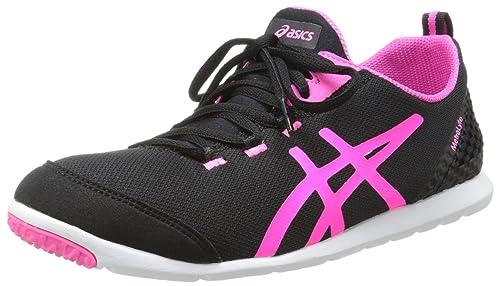 ASICS Women's Metrolyte Walking Shoes,Black/Flash Pink/White,5.5 ...