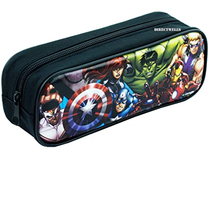 Amazon.com: Avengers - Estuche para lápices, color negro ...