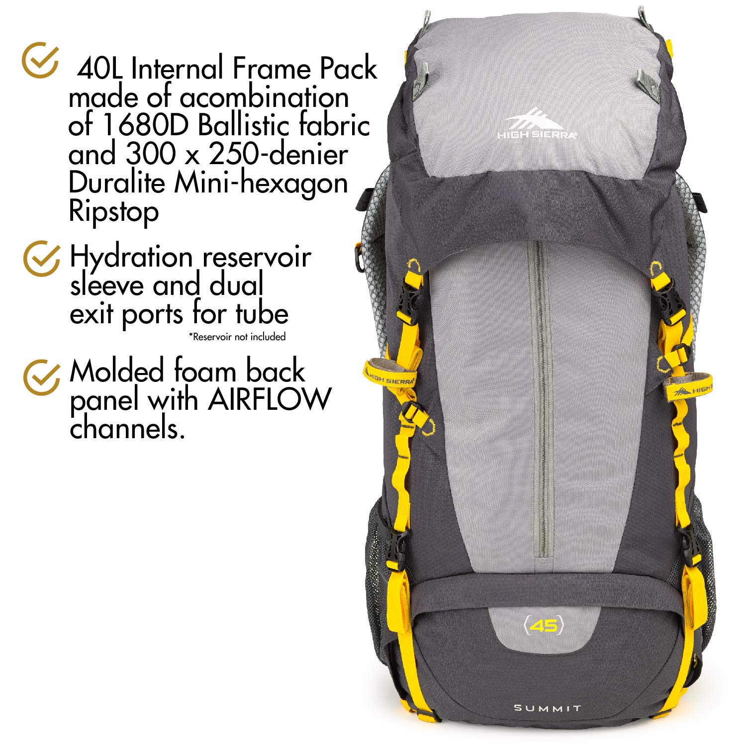 High Sierra Women's Summit 40L Internal Frame Pack