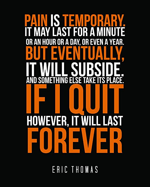 Eric Thomas Inspirational Wall Art Print Motivational Quote Poster Decor Gift