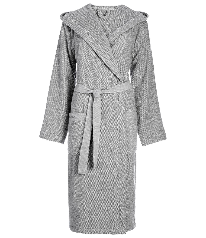Marc O 'Polo Melange S M L XL XXL Bath Robe, Grey/White, Terrycloth, grey, Large