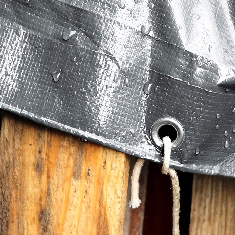 Toile en Poly/éthyl/ène casa pura B/âche de Protection Transparente 6x8m Bache Etanche Haute Densit/é 140g//m/² Transparente Verte Bache Imperm/éable /à leau /& UV env
