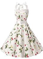 Dresstells Version3.0 Vintage 1950's Audrey Hepburn pin-up robe de soirée cocktail, style halter années 50 à pois