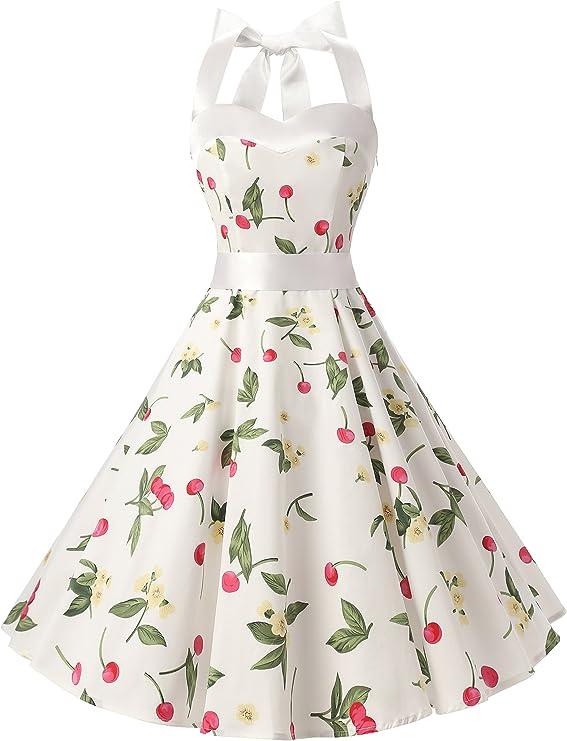 Rockabilly Dresses | Rockabilly Clothing | Viva Las Vegas DRESSTELLS 50s Vintage 1950s Rockabilly Polka Dots Audrey Dress Retro Cocktail Dress  AT vintagedancer.com