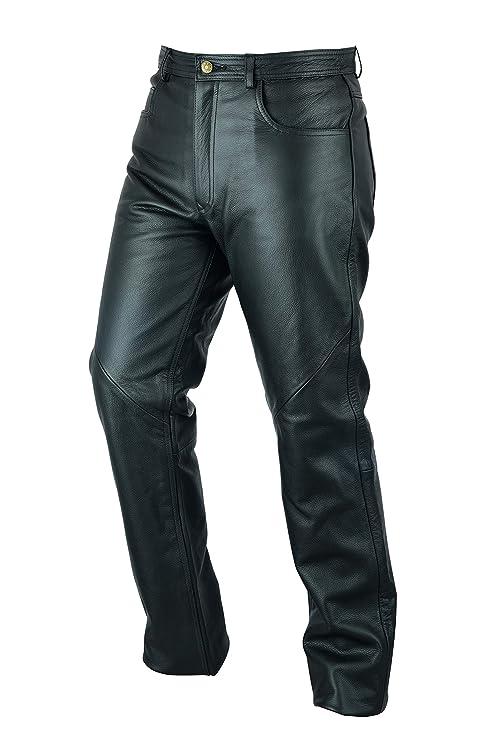 Pantalones vaqueros de motociclismo para hombre - Cuero - Negro - W30 / 76cm