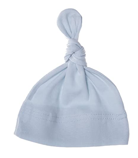 fd876d892d9 Mato   Hash Unisex Baby 100% Cotton Adjustable Knot Hat - Baby Blue CA55