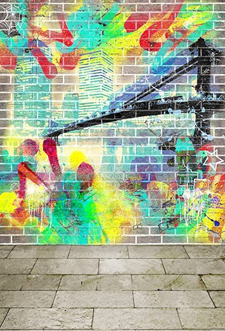 Amazon Com Baocicco City Graffiti Backdrop 7x10ft Photography