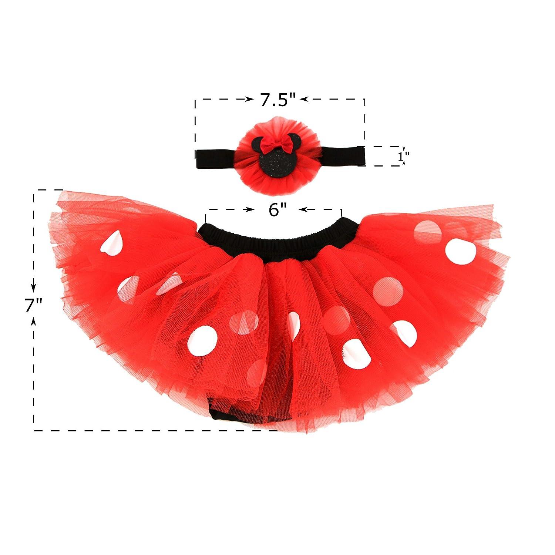 4a6386c9242 Amazon.com  Disney Baby Girls  Minnie Mouse Dress Up Headband and Tutu Set