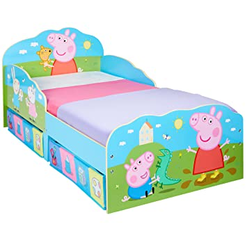 Hello Home Peppa Pig Toddler Bed with Underbed Storage Wood Multi 142 x  sc 1 st  Amazon UK & Hello Home Peppa Pig Toddler Bed with Underbed Storage Wood Multi ...