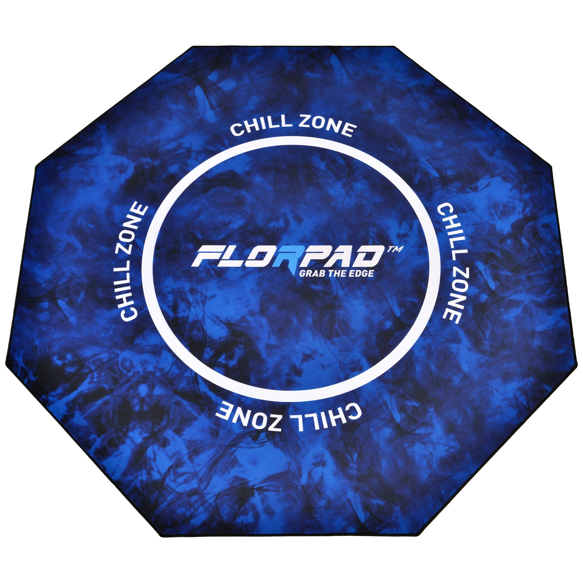 FlorPad Chill Zone 45'' x 45'' Anti Floor Scratching Floor Mat | Water Repellent | Multiple Styles | Noise Cancelling | Smooth Surface by FLORPAD GRAB THE EDGE