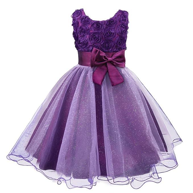 0e28187f1626 Amazon.com  Acecharming Little Girls Tutu 3D Rose Flower Dress for ...