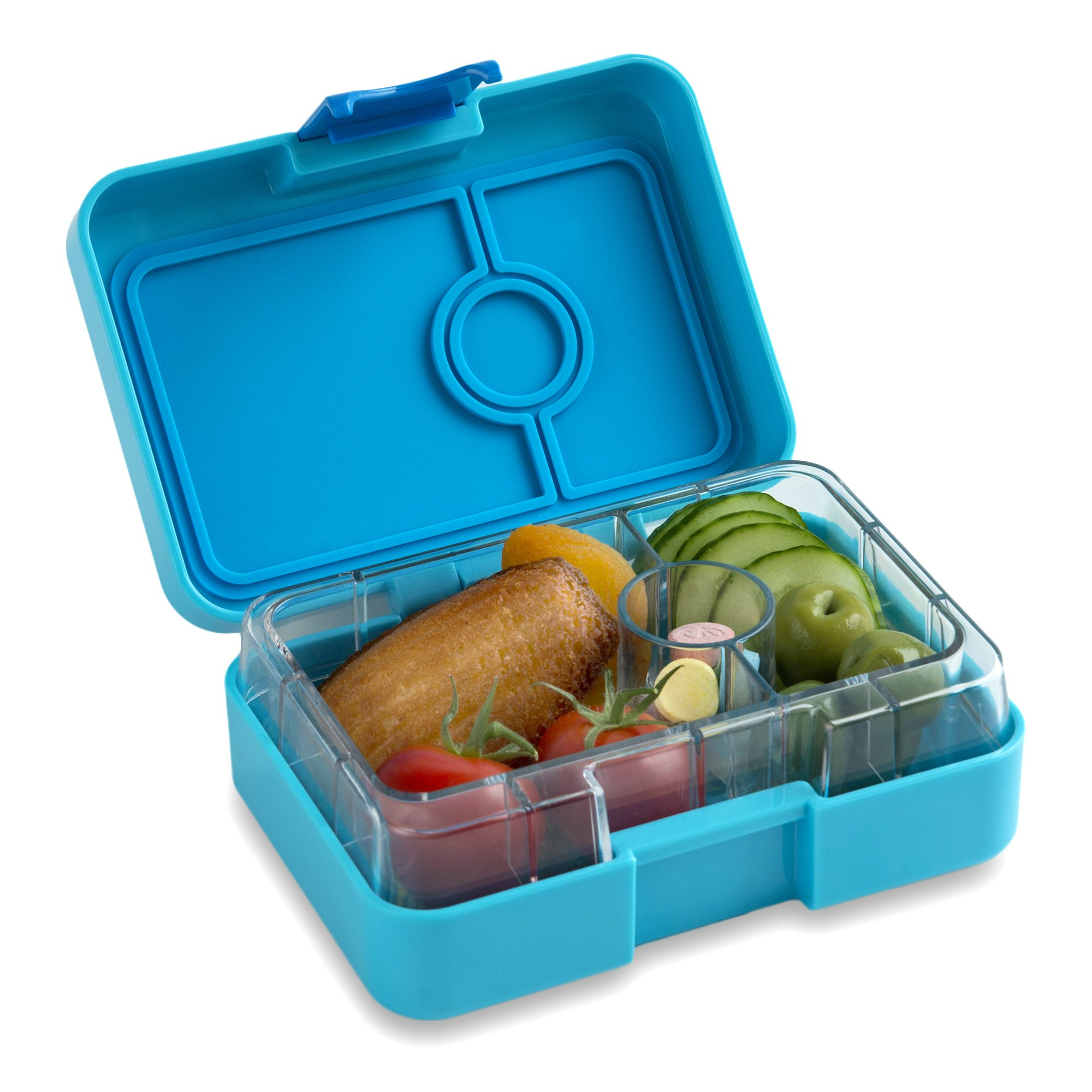 YUMBOX MiniSnack Leakproof Snack Box (Blue Fish); Bento-style snack box offers Durable, Leak-proof, On-the-go Meal and Snack Packing …
