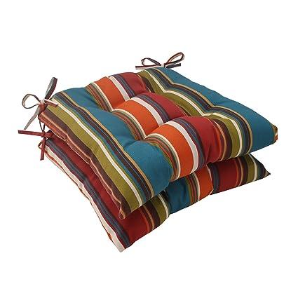 amazon com pillow perfect indoor outdoor westport tufted seat