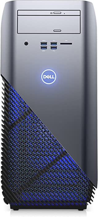 Dell i5675-A933BLU-PUS Inspiron 5675 AMD Desktop, Ryzen 5 1400 Processor, 8GB, 1TB, AMD Radeon RX 570 4GB GDDR5 Graphics, Recon Blue